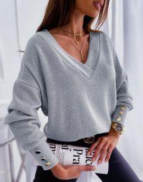 Блуза - код 5236 - сиво