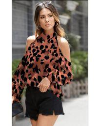 Блуза - код 1193 - кафеава
