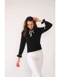 Блуза - код 6631 - црна