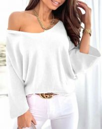 Блуза - код 6289 - бело