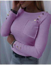 Блуза - код 1597 - 2 - виолетова