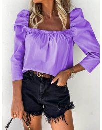 Блуза - код 9906 - виолетова