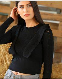 Блуза - код 2214 - црна