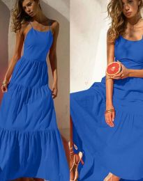 Фустан - код 2991 - темно сина