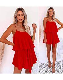 Свободна рокля в червено - код 721