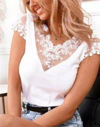 Блуза - код 3210 - 1 - бело