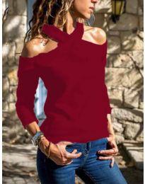 Блуза - код 4616 - црвена
