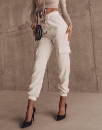 Панталони - код 2985 - бело