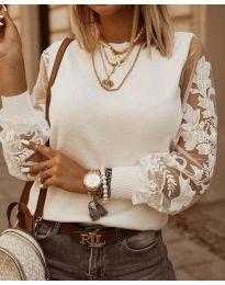 Блуза - код 4210 - бело