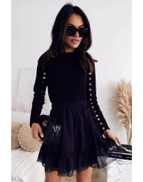 Блуза - код 2899 - 2 - црна