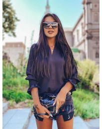 Блуза - код 4549 - црна