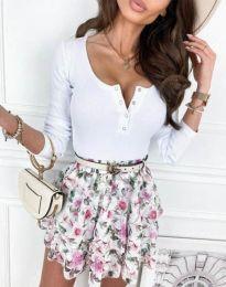Блуза - код 9054 - бела