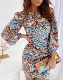 Фустан - код 3453 - шарена