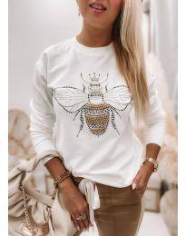 Блуза - код 4824 - бела