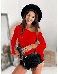Блуза - код 8353 - црвена