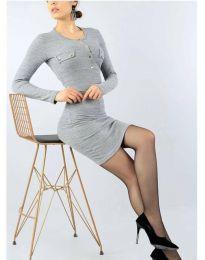 Фустан - код 2064 - 2 - сиво