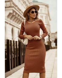 Фустан - код 8485 - кафеава