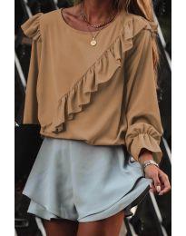 Блуза - код 6009 - капучино