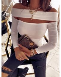 Блуза - код 5766 - бело