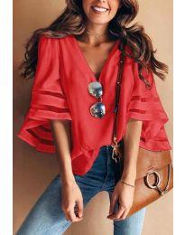 Блуза - код 3371 - 4 - црвена