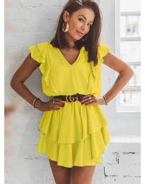 Фустан - код 7173 - жолта