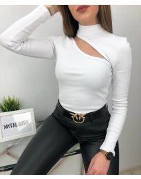 Блуза - код 6363 - бело