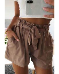 Кратки панталони - код 3637 - кафеава