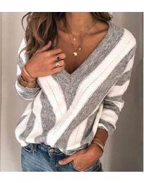 Блуза - код 786 - сиво