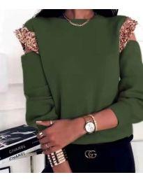 Блуза - код 1539 - путер зелена