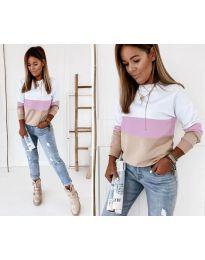 Блуза - код 9966 - 6 - шарена