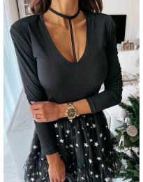 Блуза - код 4231 - црна