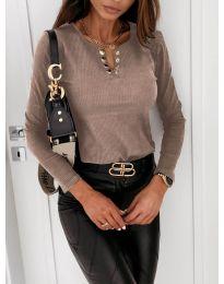 Блуза - код 4175 - кафеава