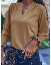 Блуза - код 4549 - кафеава