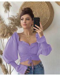 Блуза - код 896 - виолетова