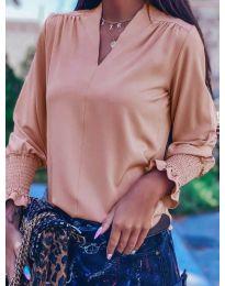 Блуза - код 4549 - пудра