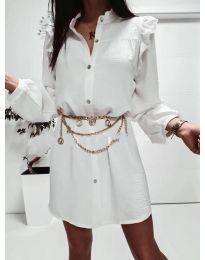 Фустан - код 3433 - бело