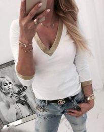 Блуза - код 3149 - 2 - бело