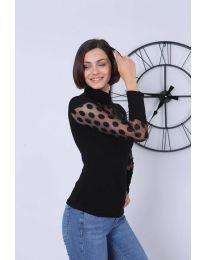 Блуза - код 2052 - 2 - црна