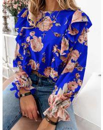 Блуза - код 4256 - темно сина