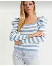 Блуза - код 0263 - светло сина