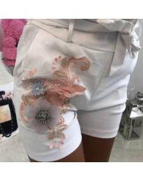 Кратки панталони - код 329 - бела