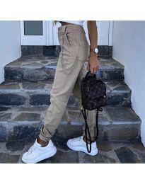 Панталони - код 5157 - кремова