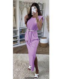 Фустан - код 7049 - светло виолетова