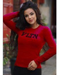 Блуза - код 3061 - 5 - црвена