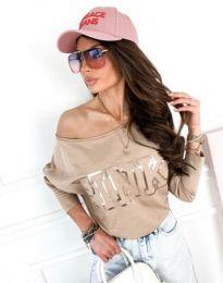Блуза - код 11743 - кремова