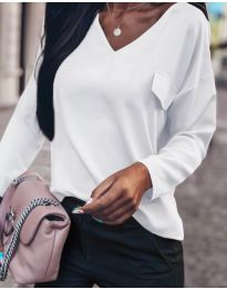 Блуза - код 0802 - бело