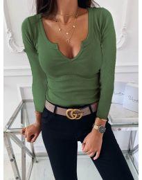 Блуза - код 875 - зелена