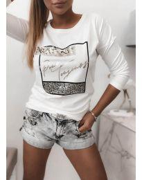 Блуза - код 4223 - бело