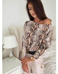 Блуза - код 5156 - 6 - шарена