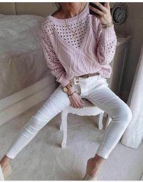 Блуза - код 6182 - розова